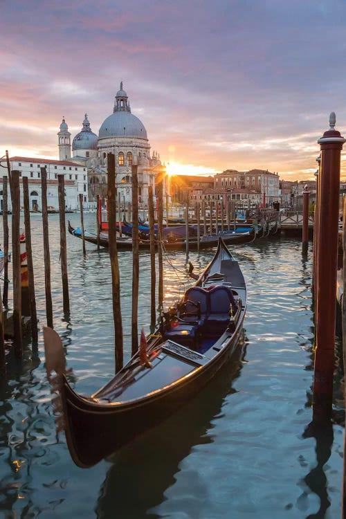 Gondola At Sunset Venice Canvas Print By Matteo Colombo Icanvas