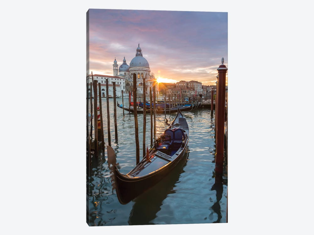 Gondola At Sunset, Venice by Matteo Colombo 1-piece Canvas Artwork