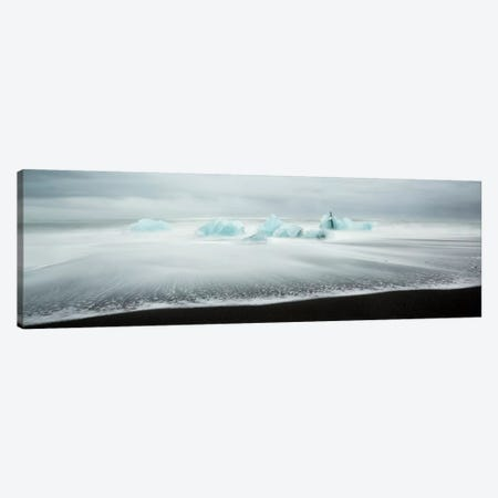 Icebergs On Black Beach I Canvas Print #TEO214} by Matteo Colombo Canvas Artwork