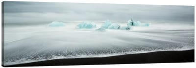 Icebergs On Black Beach I Canvas Art Print