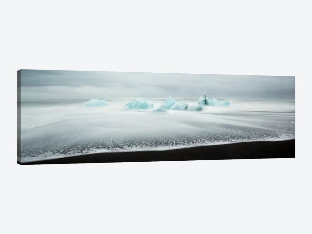 Icebergs On Black Beach I by Matteo Colombo 1-piece Canvas Art