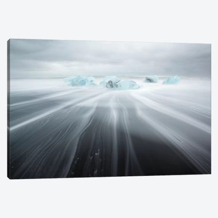 Icebergs On Black Beach II Canvas Print #TEO215} by Matteo Colombo Canvas Wall Art