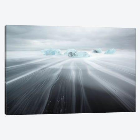 Icebergs On Black Beach II Canvas Print #TEO215} by Matteo Colombo Canvas Wall Art