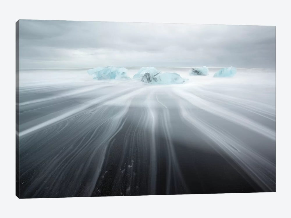 Icebergs On Black Beach II by Matteo Colombo 1-piece Canvas Art Print