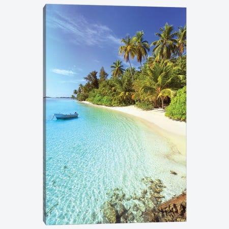 Idyllic Beach, Maldives Canvas Print #TEO216} by Matteo Colombo Canvas Art
