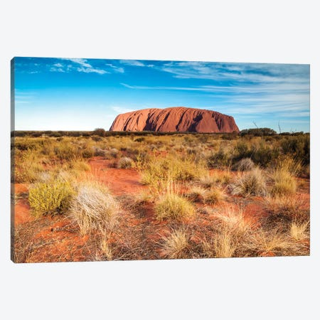 Mighty Uluru, Australia Canvas Print #TEO220} by Matteo Colombo Canvas Wall Art