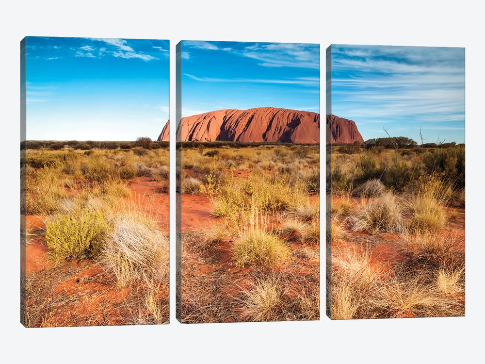 Mighty Uluru, Australia by Matteo Colombo 3-piece Art Print