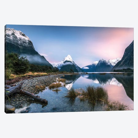 Milford Sound, New Zealand I Canvas Print #TEO221} by Matteo Colombo Canvas Art