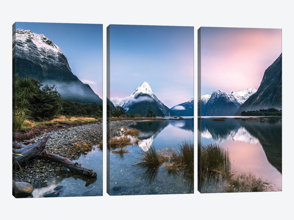 Milford Sound, New Zealand I by Matteo Colombo 3-piece Canvas Artwork