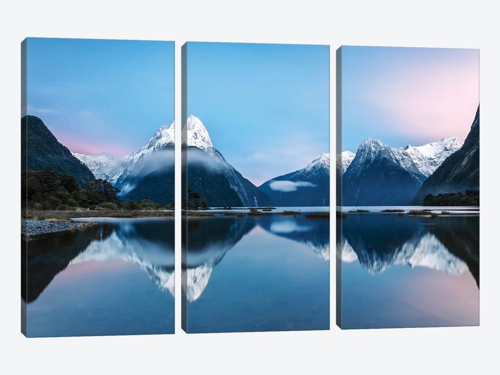 Milford Sound, New Zealand II by Matteo Colombo 3-piece Canvas Art Print