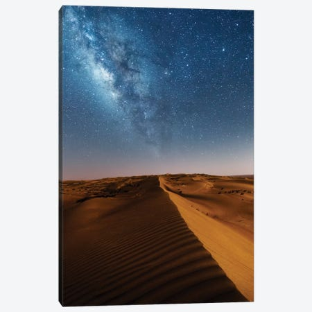 Milky Way And The Desert, Oman Canvas Print #TEO223} by Matteo Colombo Canvas Wall Art