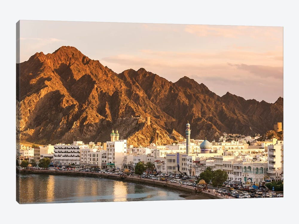 Muscat Town At Sunset, Oman by Matteo Colombo 1-piece Canvas Art