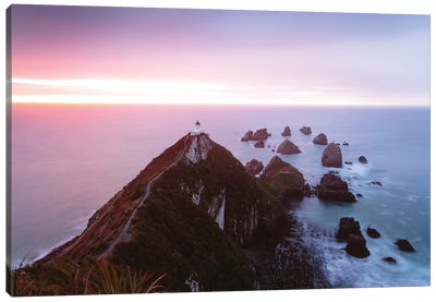 Nugget Point Lighthouse, New Zealand Canvas Art Print