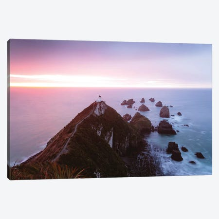 Nugget Point Lighthouse, New Zealand Canvas Print #TEO229} by Matteo Colombo Canvas Art