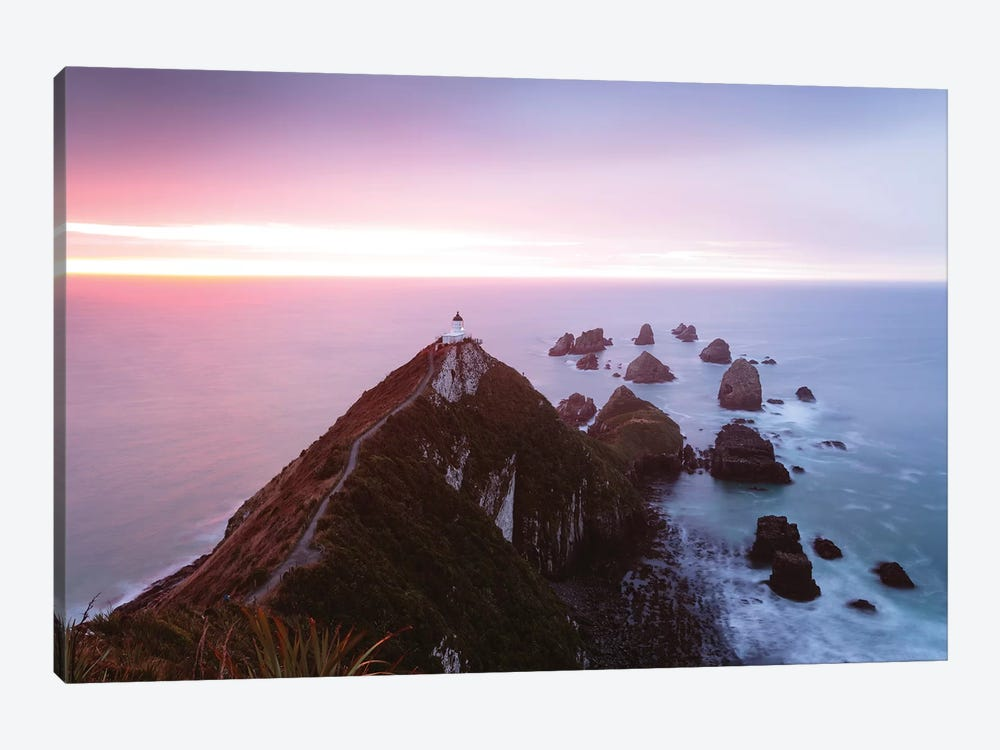 Nugget Point Lighthouse, New Zealand by Matteo Colombo 1-piece Canvas Artwork