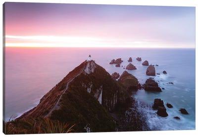 Nugget Point Lighthouse, New Zealand Canvas Art Print