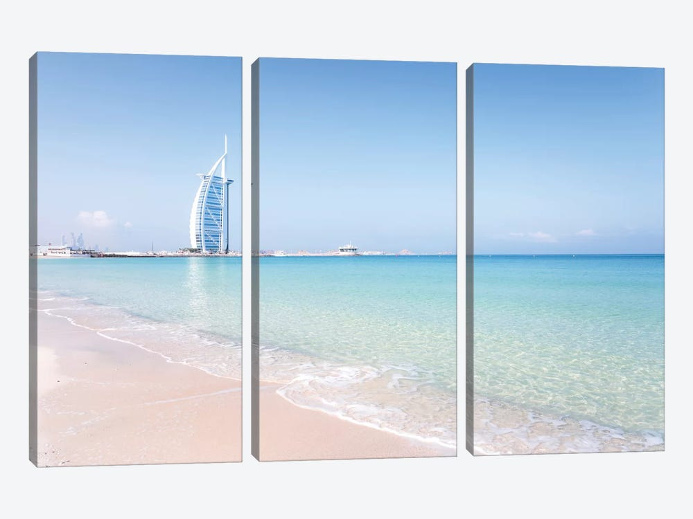 Burj al-Arab, Dubai, United Arab Emirates 3-piece Canvas Wall Art