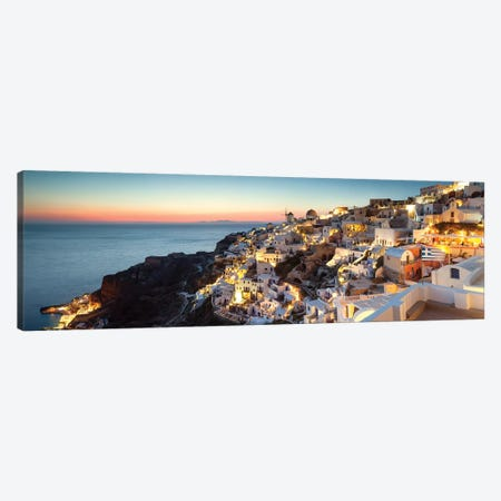 Oia At Sunset, Santorini, Greece Canvas Print #TEO230} by Matteo Colombo Canvas Print