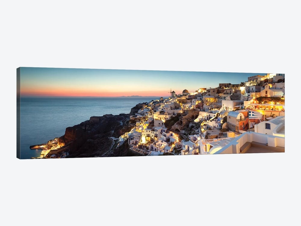 Oia At Sunset, Santorini, Greece by Matteo Colombo 1-piece Canvas Artwork
