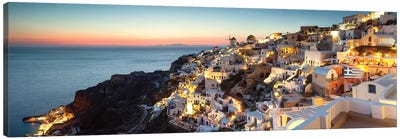 Oia At Sunset, Santorini, Greece Canvas Art Print