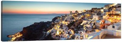 Oia At Sunset, Santorini, Greece Canvas Art Print