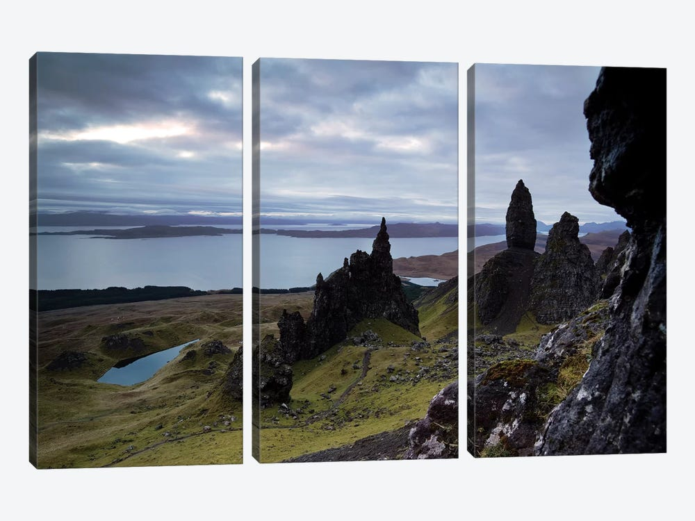 Old Man Of Storr, Scotland by Matteo Colombo 3-piece Canvas Print