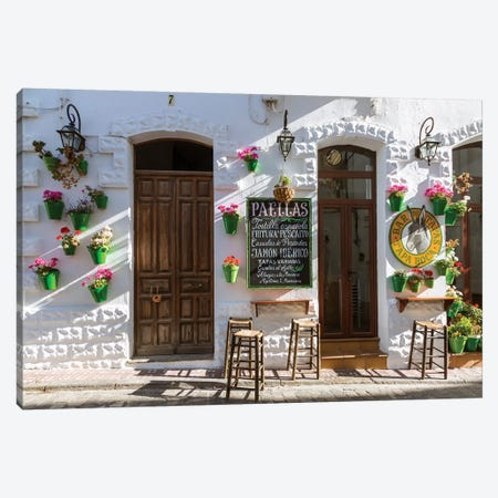 Outdoor Café In Andalusia, Spain Canvas Print #TEO232} by Matteo Colombo Canvas Art Print