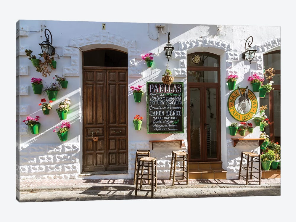 Outdoor Café In Andalusia, Spain 1-piece Canvas Artwork