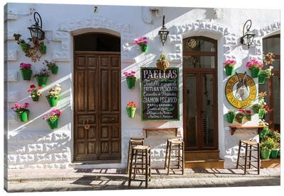 Outdoor Café In Andalusia, Spain Canvas Art Print