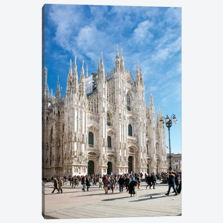 Piazza Del Duomo, Milan, Italy Canvas Print #TEO235} by Matteo Colombo Canvas Art