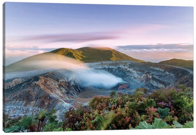 Poas Volcano At Sunrise, Costa Rica Canvas Art Print