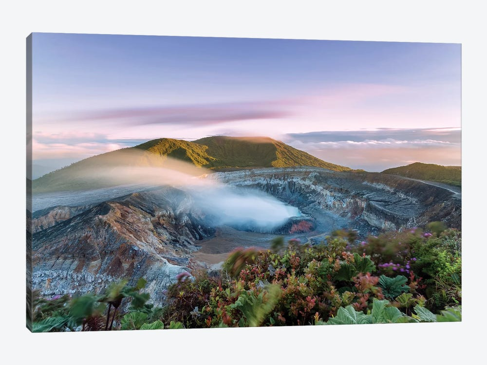 Poas Volcano At Sunrise, Costa Rica by Matteo Colombo 1-piece Canvas Art Print