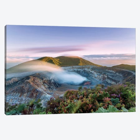 Poas Volcano At Sunrise, Costa Rica Canvas Print #TEO237} by Matteo Colombo Canvas Art