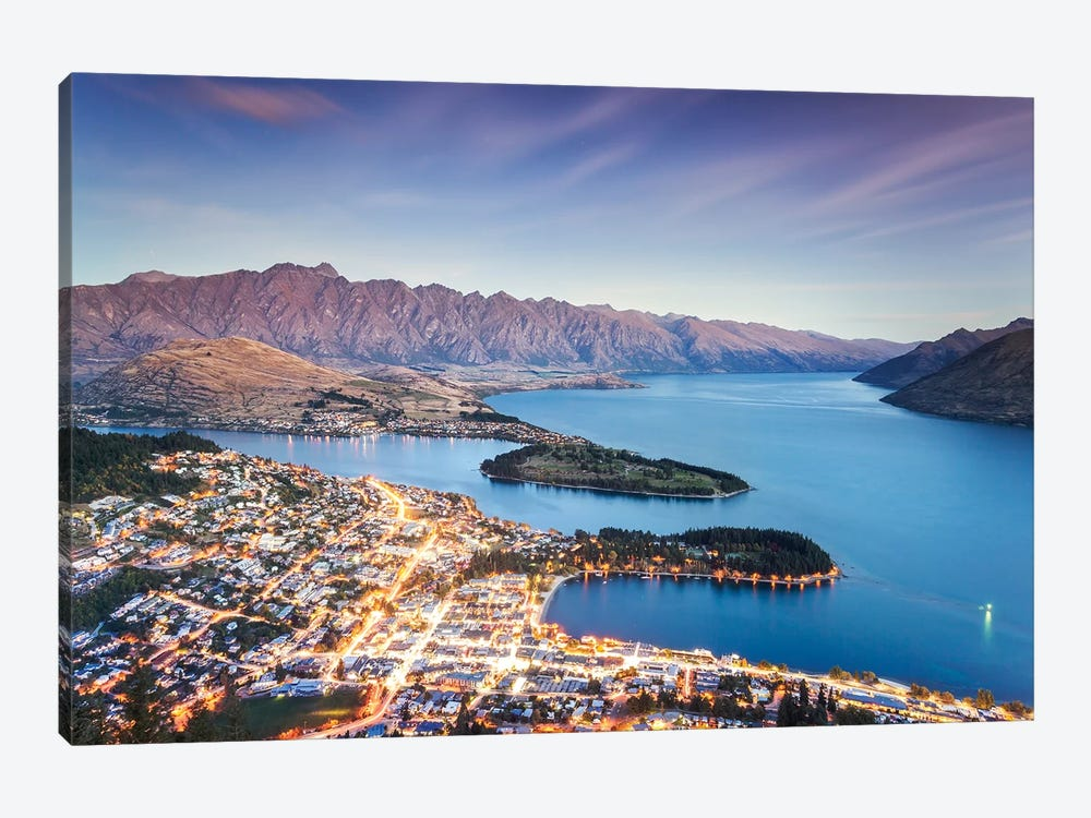 Queenstown At Dusk, New Zealand by Matteo Colombo 1-piece Canvas Wall Art