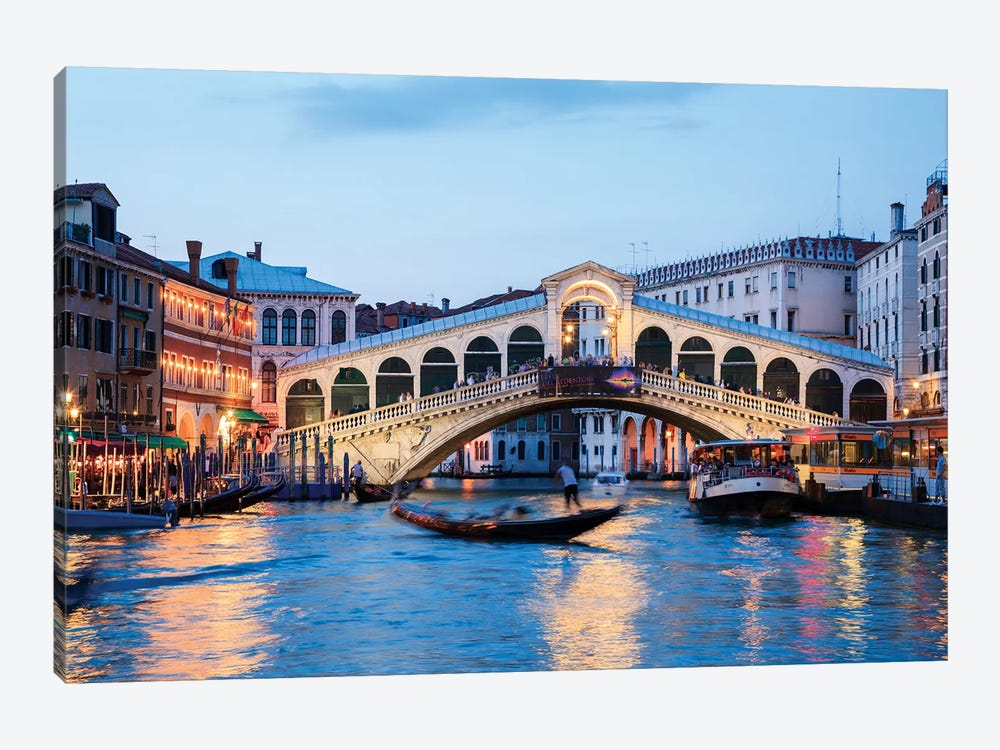 Rialto Bridge At Night, Venice by Matteo Colombo 1-piece Art Print