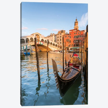 Rialto Bridge At Sunset, Venice Canvas Print #TEO240} by Matteo Colombo Canvas Wall Art