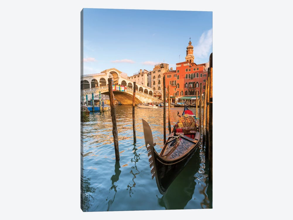 Rialto Bridge At Sunset, Venice by Matteo Colombo 1-piece Canvas Art Print