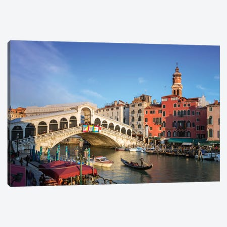 Rialto Bridge On The Grand Canal, Venice Canvas Print #TEO241} by Matteo Colombo Canvas Art