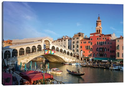 Rialto Bridge On The Grand Canal, Venice Canvas Art Print