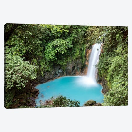 Rio Celeste Waterfall, Costa Rica Canvas Print #TEO242} by Matteo Colombo Canvas Wall Art