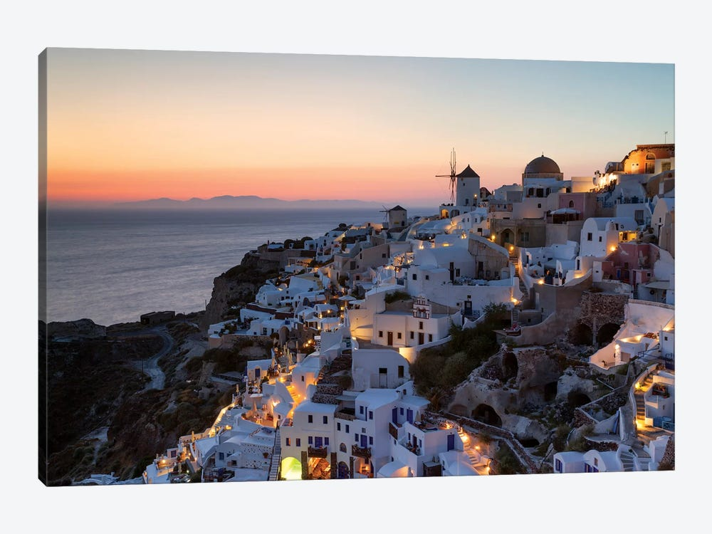 Romantic Sunset In Santorini by Matteo Colombo 1-piece Canvas Print