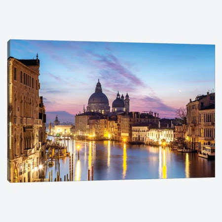 Salute Church And Grand Canal, Venice Canvas Print #TEO247} by Matteo Colombo Canvas Print
