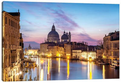 Salute Church And Grand Canal, Venice Canvas Art Print