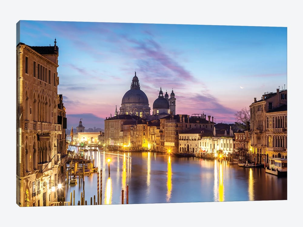 Salute Church And Grand Canal, Venice by Matteo Colombo 1-piece Canvas Art