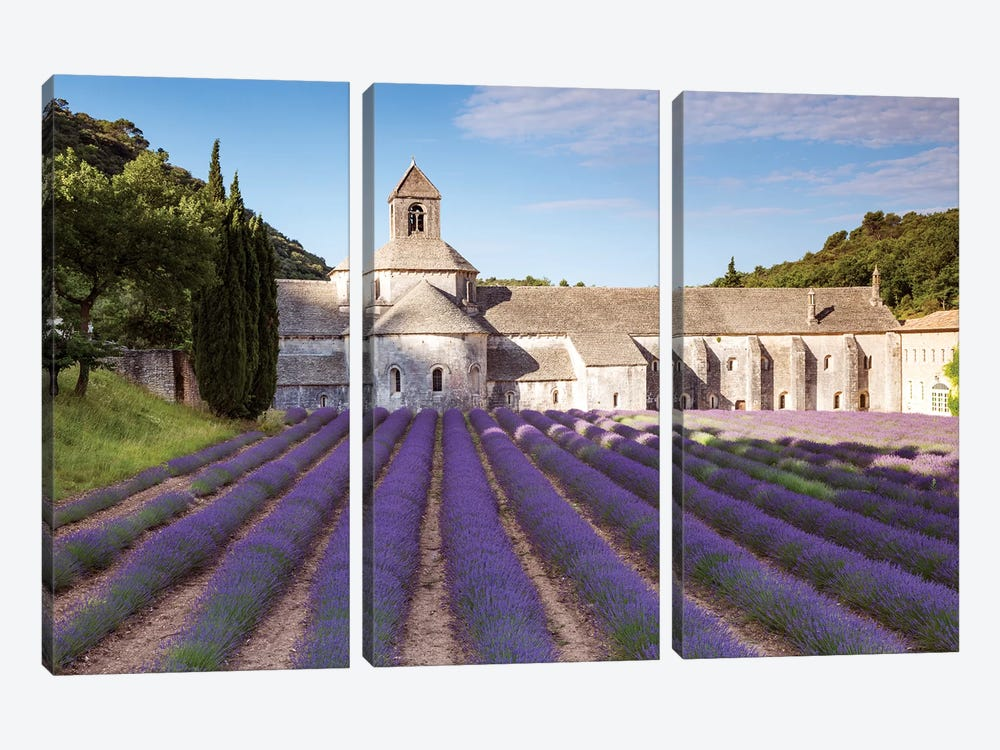 Senanque Abbey, Provence, France by Matteo Colombo 3-piece Canvas Print