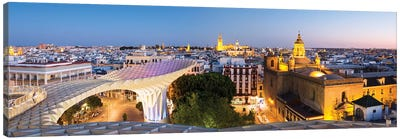 Seville At Dusk, Andalusia, Spain Canvas Art Print