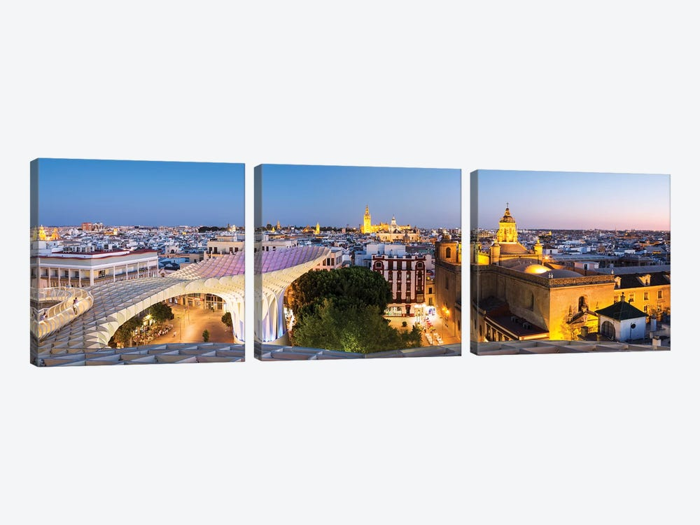 Seville At Dusk, Andalusia, Spain by Matteo Colombo 3-piece Canvas Art