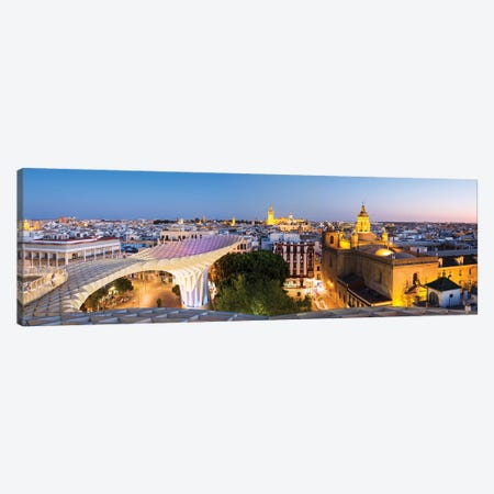Seville At Dusk, Andalusia, Spain Canvas Print #TEO249} by Matteo Colombo Canvas Artwork