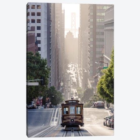 Cable Car, San Francisco, California, USA Canvas Print #TEO24} by Matteo Colombo Canvas Print