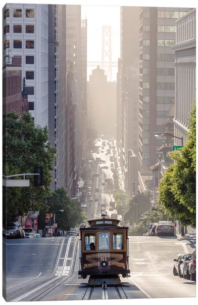 Cable Car, San Francisco, California, USA Canvas Art Print